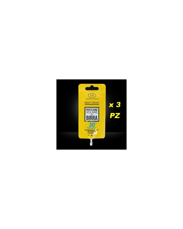 Super Abbronzante alla Birra LR WONDER COMPANY Viso/Corpo protezione 30 SPF 15 ml x 3 PZ