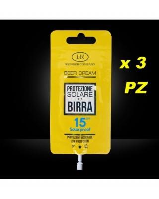 Super Abbronzante alla Birra LR WONDER COMPANY Viso/Corpo protezione 15 SPF 15 ml x 3 PZ