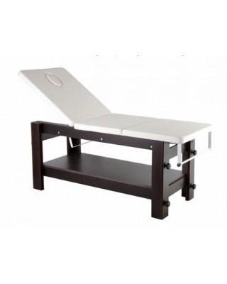 Lettino Estetico in legno 3 movimento altezza regolabile mod. Regolo VIP