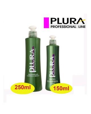 Kit Cheveux - Shampooing 250 ml + Huile compacte boucles 150 ml - Plura