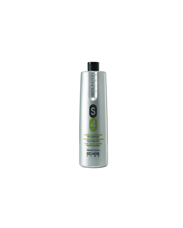 Shampoo seboregolatore S4 Plus cute e capelli grassi 1000 ml Echosline