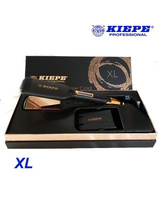 Pure Rose Gold professional plaque parfaite pour cheveux bouclés Taille XL - Kiepe Professional