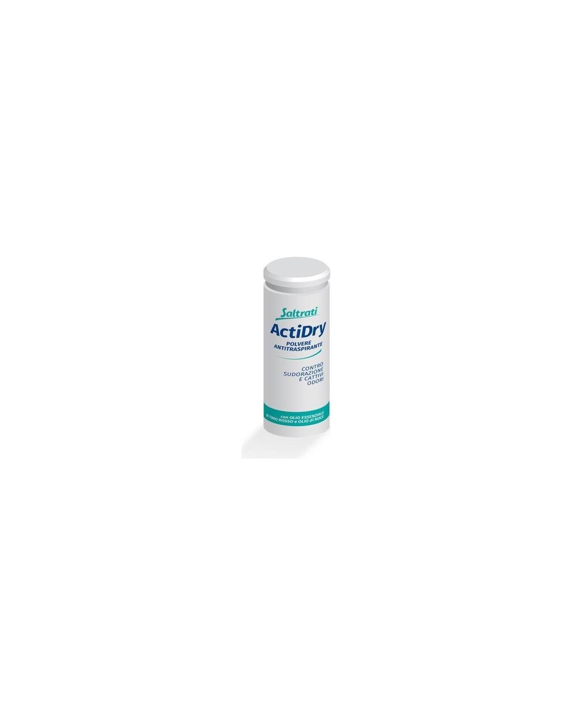 Saltrati ActiDry Polvere Antitraspirante Contro Sudorazione e Cattivi Odori 75g