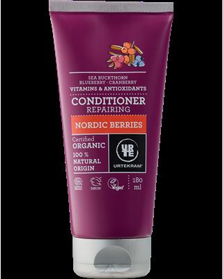 BIO Haarbalsam mit roten Beeren für trockenes Haar 180ml - Urtekram