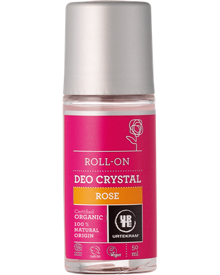 Deodorante BIOLOGICO roll-on alla Rosa 50ml - Urtekram