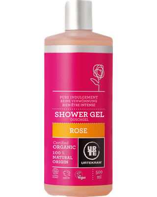 ORGANIC Shower Gel with 250ml rose - Urtekram