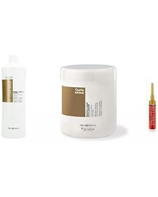Kit LARGE Curly Hair CURLY SHINE Shampoo + Conditioner 2000ml + FREE vial STRUCTURE