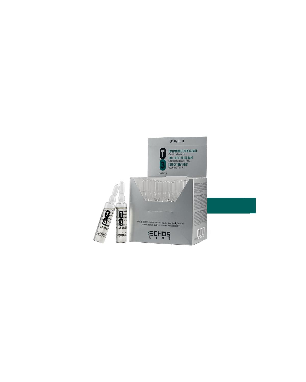 Ampoules de renforcement cheveux faibles et fins T3 12 pcs de 10 ml - Echosline