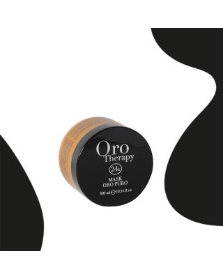 Maschera per capelli 24k oro puro con olio di argan 300ml - Fanola Oro Therapy