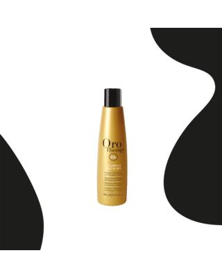 Champú para cabello de 24k a base de aceite de argán, 300 ml de oro puro - Fanola Oro Therapy