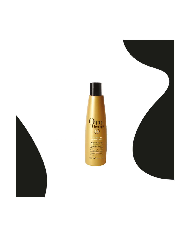 24k hair shampoo based on argan oil 300ml pure gold - Fanola Oro Therapy