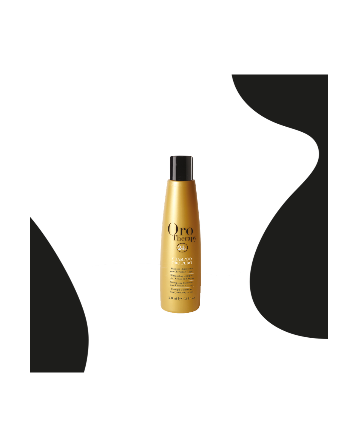 Shampooing 24k à base d'huile d'argan 300ml d'or pur - Fanola Oro Therapy