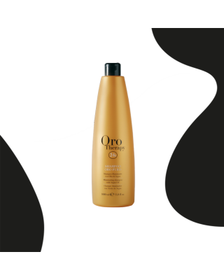 24k hair shampoo based on argan oil 1000 ml pure gold - Fanola Oro Therapy