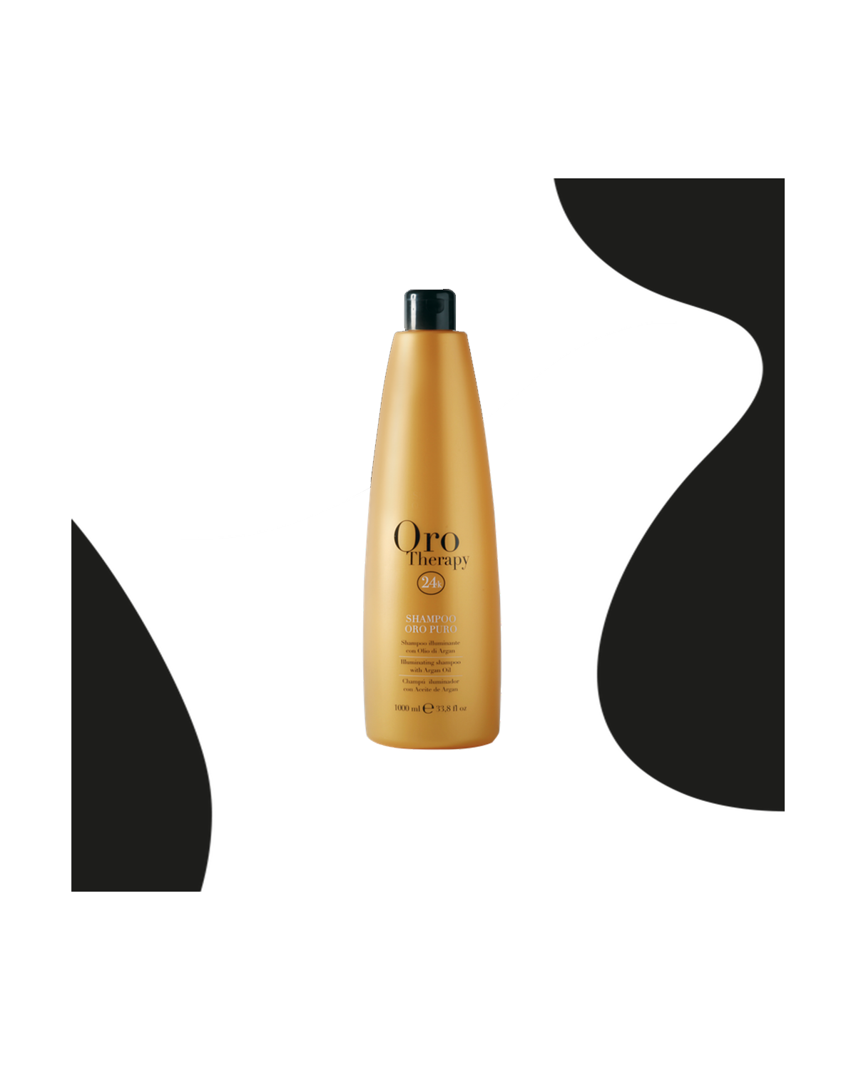 Shampooing 24k à base d'huile d'argan 1000 ml d'or pur - Fanola Oro Therapy