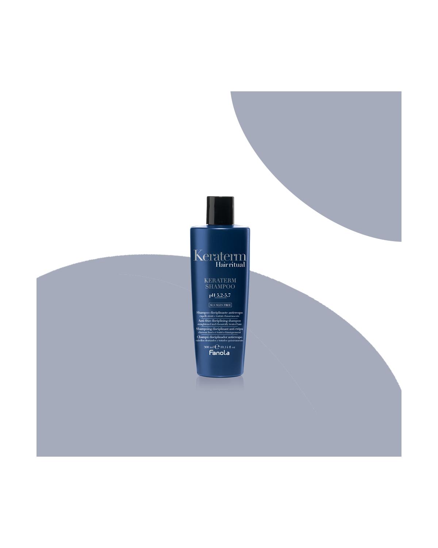 Shampoo per Capelli KERATERM anticrespo disciplinante 300 ml SLS/SLES FREE
