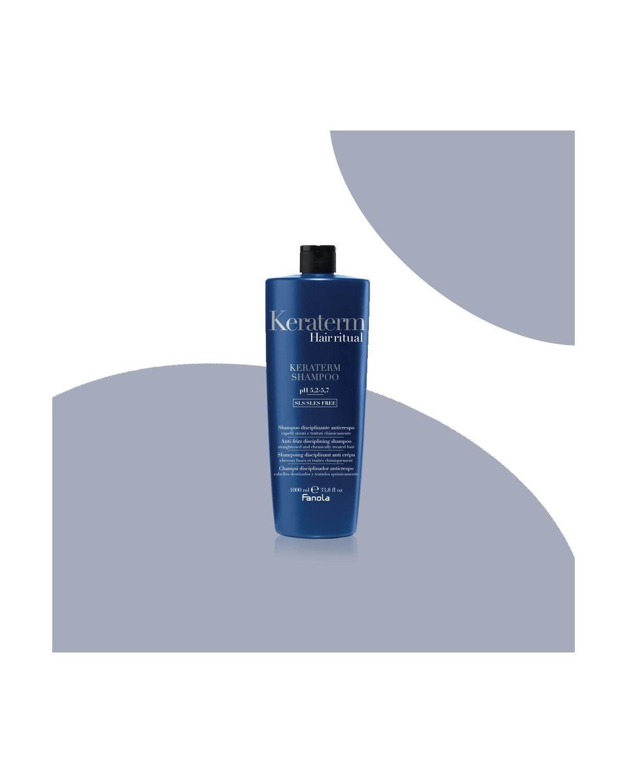 Shampoo Capelli KERATERM anticrespo disciplinante Fanola 1000 ml SLS/SLES FREE