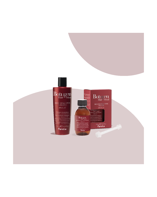 Filler Ricostruttore capelli 150 ml Botugen + Shampoo Ricostruttore 350 ml