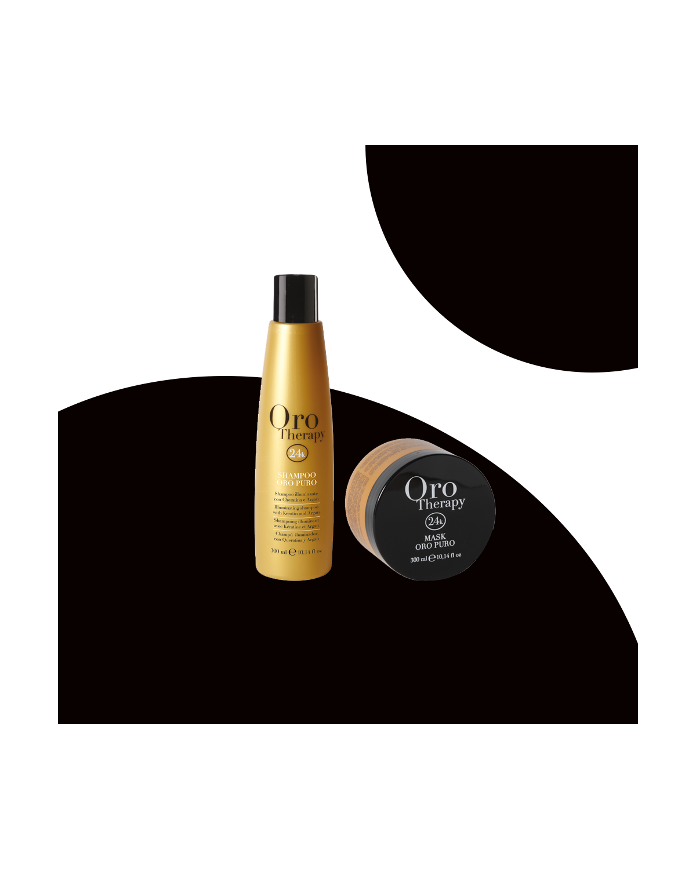 Kit professionale Fanola schampoo 250 ml + maschera 300 ml oro therapy