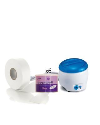 Depilación corporal - calentador de cera alegre + 6PZ depiwell cera de zinc + depilación Roto Ro.ial