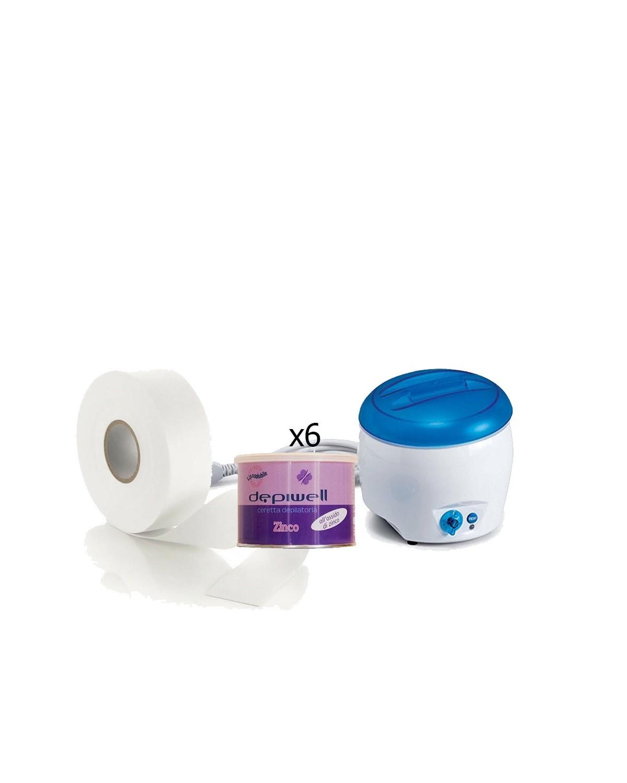 Body hair removal - Jolly wax heater + 6PZ depiwell zinc wax + Roto hair removal Ro.ial